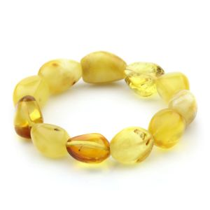 Adult Baltic Amber Bracelet Olive Beads 16mm 23gr. JNR37
