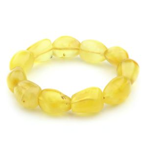 Adult Baltic Amber Bracelet Olive Beads 15mm 21gr. JNR39