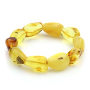 Adult Baltic Amber Bracelet Olive Beads 16mm 23gr. JNR41