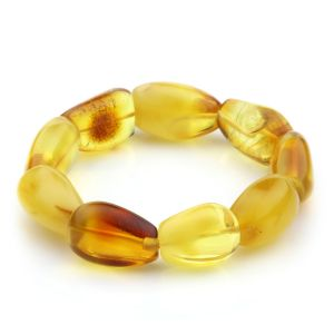 Adult Baltic Amber Bracelet Olive Beads 17mm 24gr. JNR42