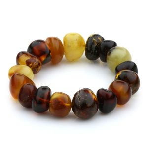 Adult Baltic Amber Bracelet Baroque Beads 17mm 27gr. JNR48