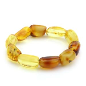 Adult Baltic Amber Bracelet Olive Beads 14mm 17gr. JNR53