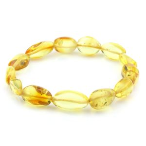 Adult Baltic Amber Bracelet Olive Beads 10mm 7gr. JNR62