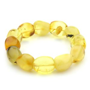 Adult Baltic Amber Bracelet Olive Beads 17mm 30gr. JNR68