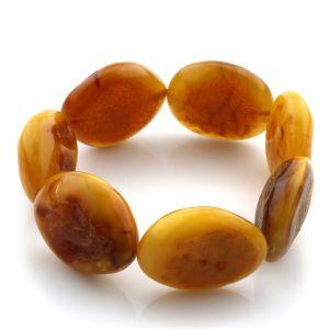 Adult Baltic Amber Bracelet Olive Beads 22mm 25gr. JNR86