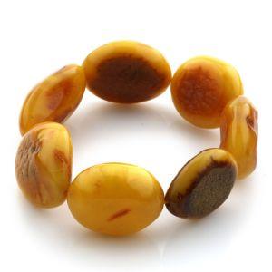 Adult Baltic Amber Bracelet Olive Beads 21mm 25gr. JNR89