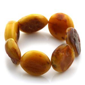Adult Baltic Amber Bracelet Olive Beads 26mm 32gr. JNR91