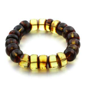 Adult Baltic Amber Bracelet Tablet Beads 15mm 32gr. JNR97
