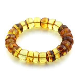 Adult Baltic Amber Bracelet Tablet Beads 12mm 20gr. JNR98