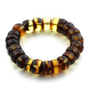 Adult Baltic Amber Bracelet Tablet Beads 15mm 30gr. JNR100