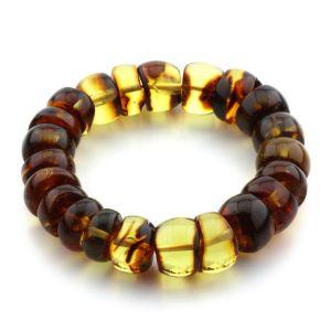 Adult Baltic Amber Bracelet Tablet Beads 14mm 29gr. JNR110
