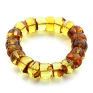 Adult Baltic Amber Bracelet Tablet Beads 15mm 29gr. JNR111