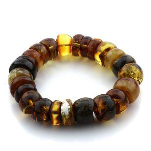 Adult Baltic Amber Bracelet Tablet Beads 14mm 31gr. JNR114