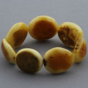 Adult Baltic Amber Bracelet Olive Beads 24mm 30gr. JNR120