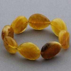 Adult Baltic Amber Bracelet Olive Beads 22mm 24gr. JNR128