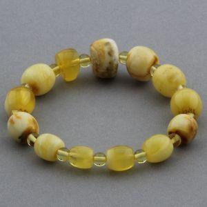 Adult Baltic Amber Bracelet Round Cylinder Beads 12mm 10gr. JNR130