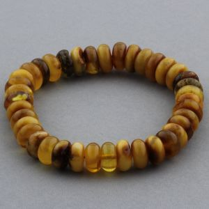 Adult Baltic Amber Bracelet Tablet Beads 12mm 18gr. JNR139
