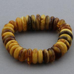 Adult Baltic Amber Bracelet Tablet Beads 19mm 39gr. JNR141
