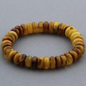 Adult Baltic Amber Bracelet Tablet Beads 11mm 19gr. JNR142