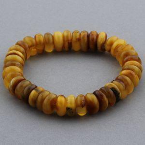 Adult Baltic Amber Bracelet Tablet Beads 13mm 22gr. JNR143