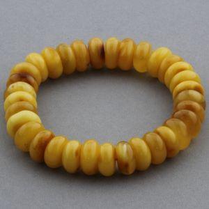 Adult Baltic Amber Bracelet Tablet Beads 12mm 16gr. JNR146