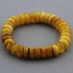 Adult Baltic Amber Bracelet Tablet Beads 11mm 16gr. JNR147