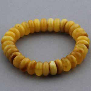 Adult Baltic Amber Bracelet Tablet Beads 11mm 17gr. JNR148