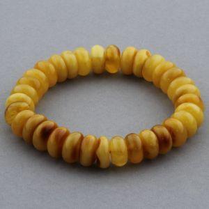 Adult Baltic Amber Bracelet Tablet Beads 11mm 15gr. JNR149