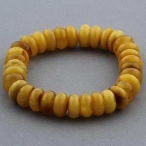 Adult Baltic Amber Bracelet Tablet Beads 11mm 16gr. JNR150
