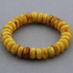 Adult Baltic Amber Bracelet Tablet Beads 11mm 15gr. JNR151