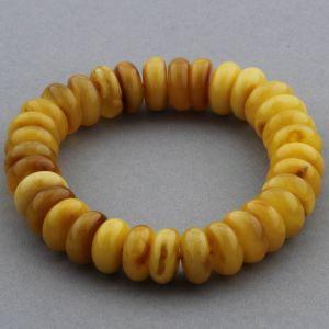 Adult Baltic Amber Bracelet Tablet Beads 12mm 18gr. JNR153
