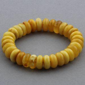 Adult Baltic Amber Bracelet Tablet Beads 13mm 19gr. JNR154