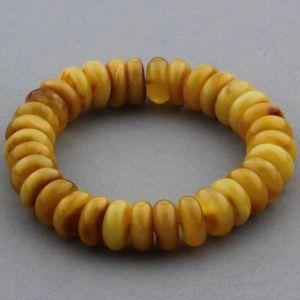Adult Baltic Amber Bracelet Tablet Beads 13mm 19gr. JNR155