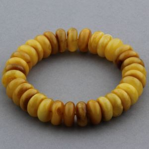 Adult Baltic Amber Bracelet Tablet Beads 12mm 20gr. JNR157