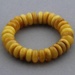 Adult Baltic Amber Bracelet Tablet Beads 13mm 23gr. JNR159