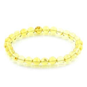 Adult Baltic Amber Bracelet Round Beads 7mm 4gr. JNR167