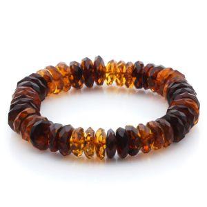 Adult Baltic Amber Bracelet Tablet Beads 13mm 17gr. JNR172