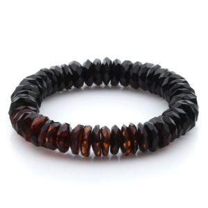 Adult Baltic Amber Bracelet Tablet Beads 13mm 17gr. JNR173