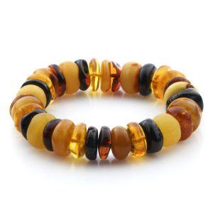 Adult Baltic Amber Bracelet Tablet Beads 14mm 23gr. JNR181