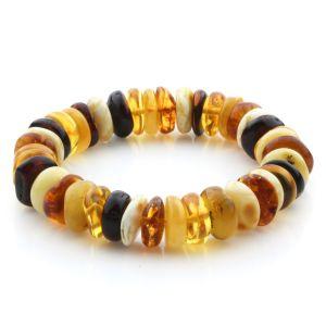 Adult Baltic Amber Bracelet Tablet Beads 13mm 20gr. JNR182