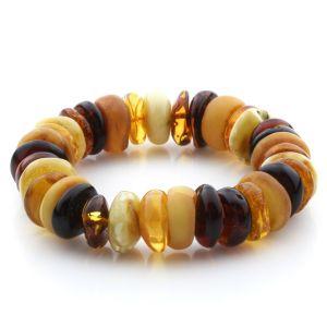 Adult Baltic Amber Bracelet Tablet Beads 16mm 32gr. JNR186