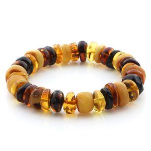 Adult Baltic Amber Bracelet Tablet Beads 12mm 19gr. JNR187