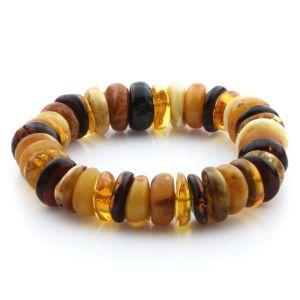 Adult Baltic Amber Bracelet Tablet Beads 14mm 25gr. JNR194