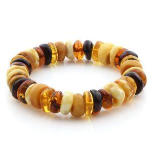 Adult Baltic Amber Bracelet Tablet Beads 12mm 18gr. JNR195