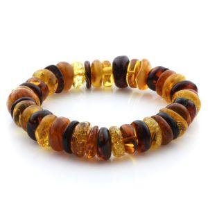 Adult Baltic Amber Bracelet Tablet Beads 12mm 20gr. JNR200