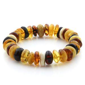 Adult Baltic Amber Bracelet Tablet Beads 13mm 21gr. JNR201