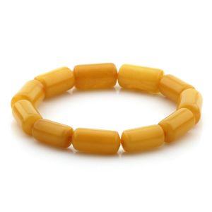 Adult Baltic Amber Bracelet Cylinder Beads 15mm 10gr. MRC229