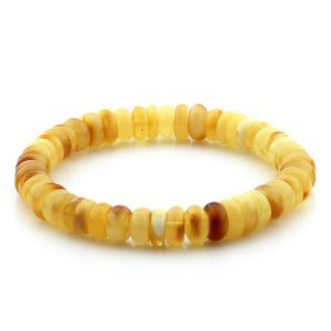 Adult Baltic Amber Bracelet Tablet Beads 8mm 8gr. MRC234