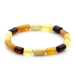 Adult Baltic Amber Bracelet Cylinder Beads 12mm 5gr. MRC238