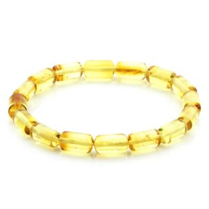Adult Baltic Amber Bracelet Cylinder Beads 11mm 5gr. MRC256